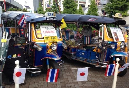 タイの三輪タクシー「トゥクトゥク」の販売も