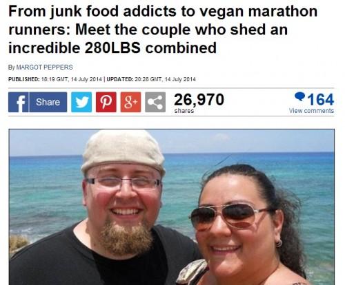 夫婦二人で合計140キロも減量に成功