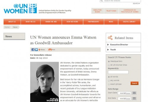 「国連ウィメン親善大使」の選出基準