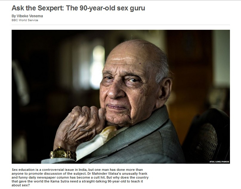 """「セックスは楽しいもの」 """"90歳で現役""""インドのセックスアドバイザーによる性の悩み相談"""