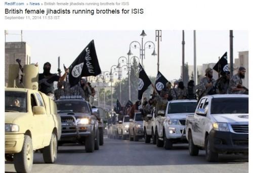 「イスラム国」戦士のための売春宿が設立