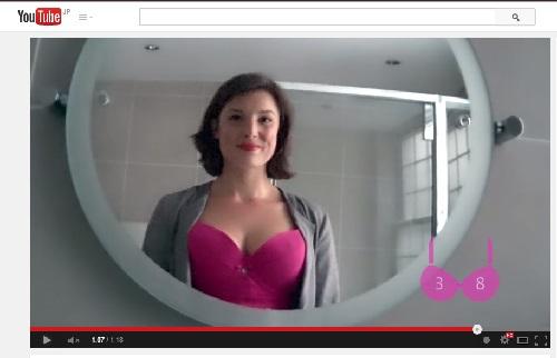 あなたは人からどれだけ胸を見られている? 「乳がん検診」をすすめるユニークな動画が話題