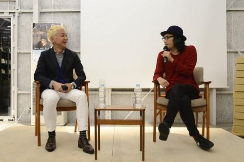 (左から)原作者の本多孝好さん、行定勲監督
