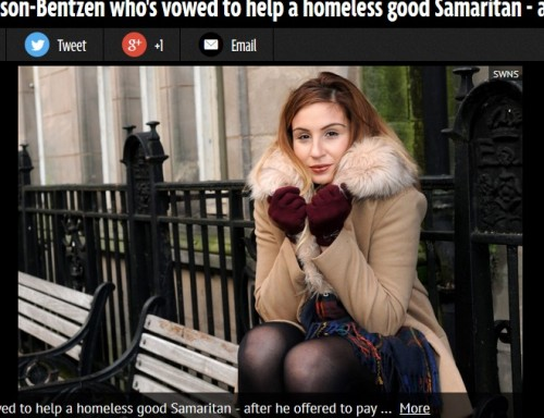 ホームレスが22歳の女子学生を動かす