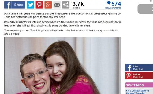 6歳の娘に授乳し続ける母親は異常?