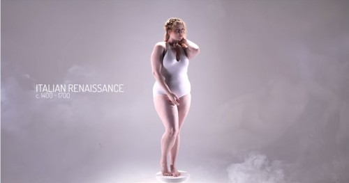 時代で変化する「理想女性の体型」動画2