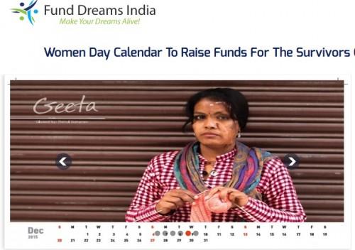 火傷の女性を支援するカレンダーが話題