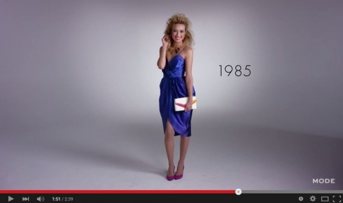 女性のファッション100年間の変遷