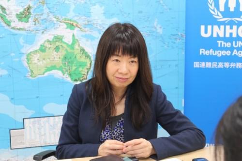 UNHCR(国連難民高等弁務事務所)広報官の守屋由紀さん