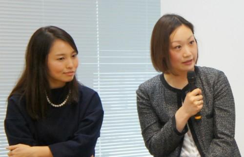 左:株式会社ウエディングパーク・菊地亜希さん/右:株式会社Woman&Crowdの代表取締役社長・石田裕子さん