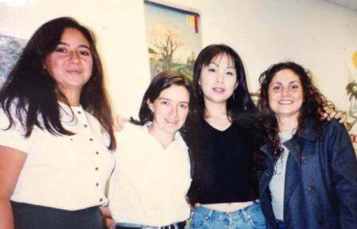 語学学校に入学してすぐの頃、友達との写真。