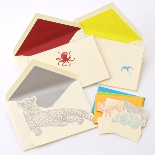 オリジナルデザインのカードと封筒