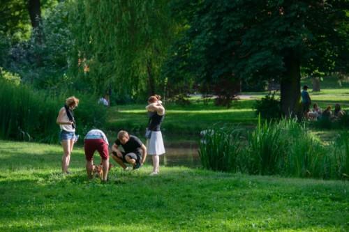 ルジャーンキ公園。ブルノは公園の多い町。