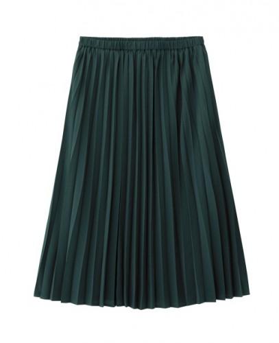 イージープリーツスカート(グリーン)