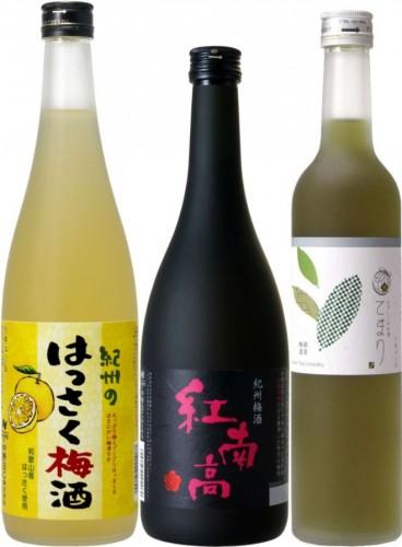日本一に輝いた3種の梅酒/1位が3本で111セット限定