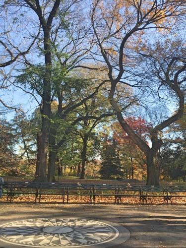 """セントラルパーク内ストロベリー・フィールズにある""""イマジンの碑""""が胸に沁みる"""