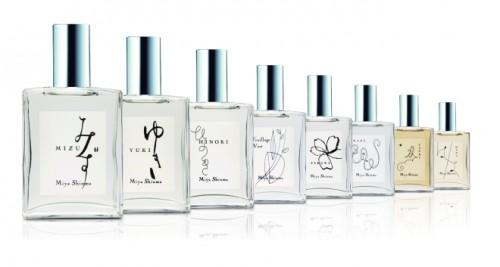 Miya Shinma Parfumsの香水は写真の8種と、昨秋販売になった「たちばな」の全9種。各55ml入り、1万9440円。来年、また新作を出すことが決まっている。