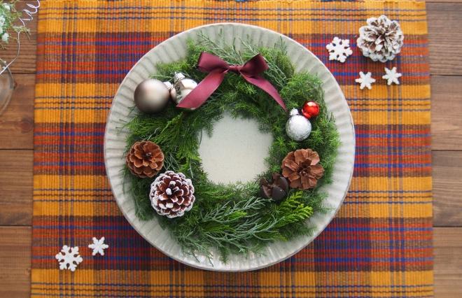 クリスマス、何もしないの? プレートに置くだけ簡単テーブルリースで気分をUP