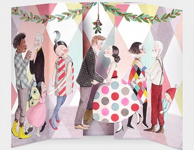 MoMA クリスマスカード ヤドリギ / Sophie Blackall