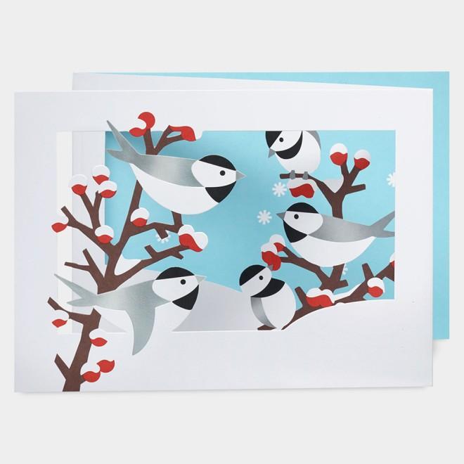 MoMA クリスマスカード 冬の小鳥 / Aimee Hucek