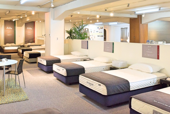 日本ベッドの本社にある池上ショールーム