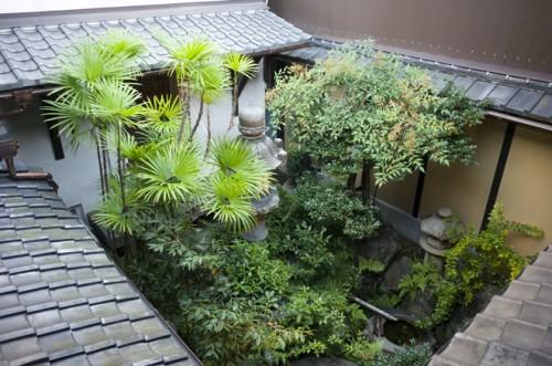 廊下からの庭、蔵