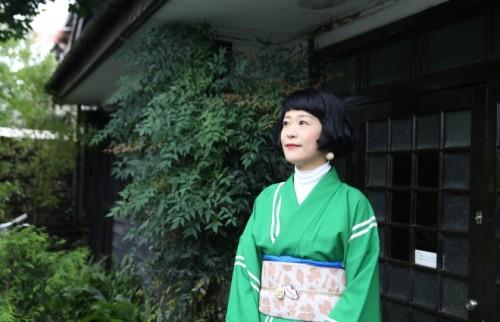 「アンティーク着物は新しいファッション」 昭和モダンな可愛さを現代風にMIX