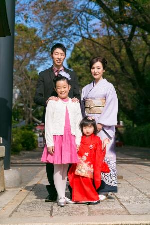 女社長の家族。