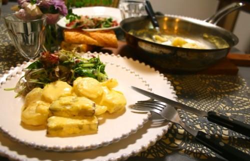 「長芋とさつまいものグラタン」と「新タマネギとタコのサラダ」【金曜日の夜ごはん】<