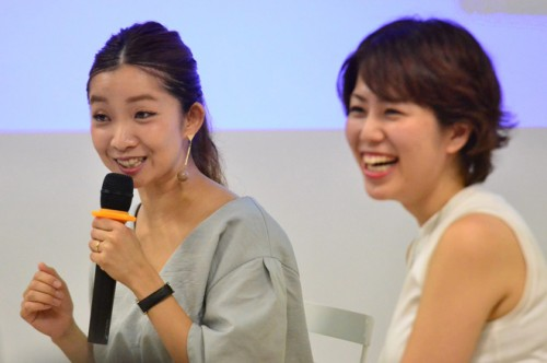 大瀧彩乃さん(左)、野邉まほろさん(右)