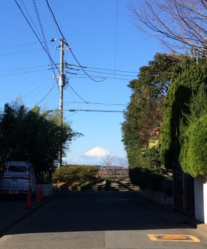 晴れた日は富士山が現れることも/本人撮影