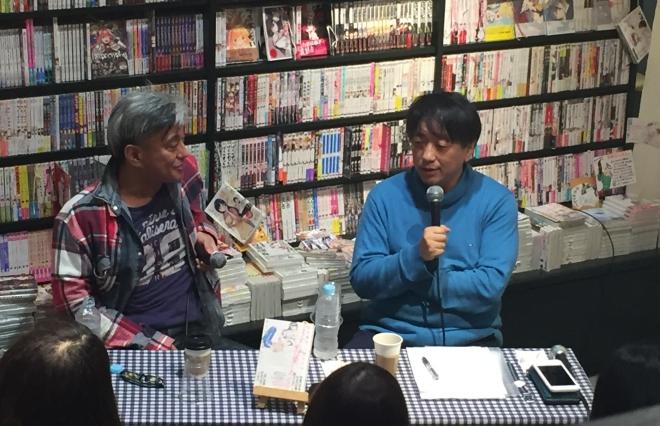 『どうすれば愛しあえるの』トークショーに登場した(左から)二村ヒトシさんと宮台真司さん