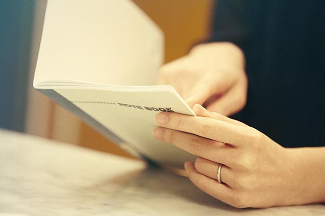 関さんが乳がんになってからの日々のことや、気持ちが書き込まれたノート。
