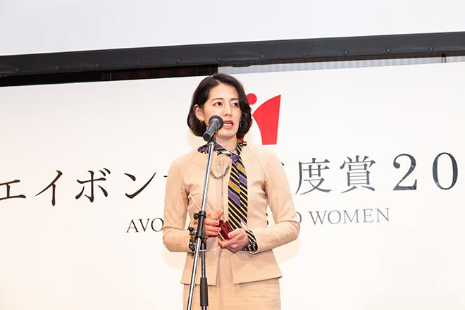 受賞の喜びを語る「東横イン」黒田麻衣子社長