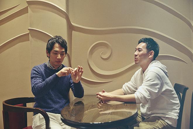 加藤翼さん(左)と竹内貴仁さん