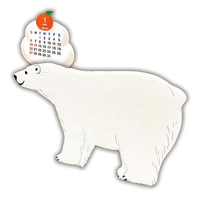 メモスタンドカレンダー:シロクマ
