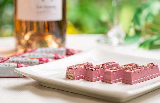 ピンク色のペアリングで気分も華やぐ! ルビーチョコレートとワイン