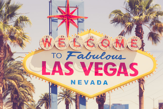 あの有名な看板「Welcome to Fabulous Las Vegas sign」