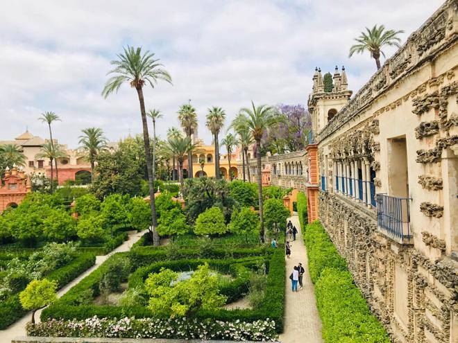 2019年5月、スペインのセビリア。世界遺産の宮殿「アルカサル」