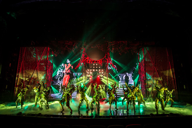 『Thriller』。知っている曲が流れるとテンションが上がります/Courtesy of Cirque du Soleil