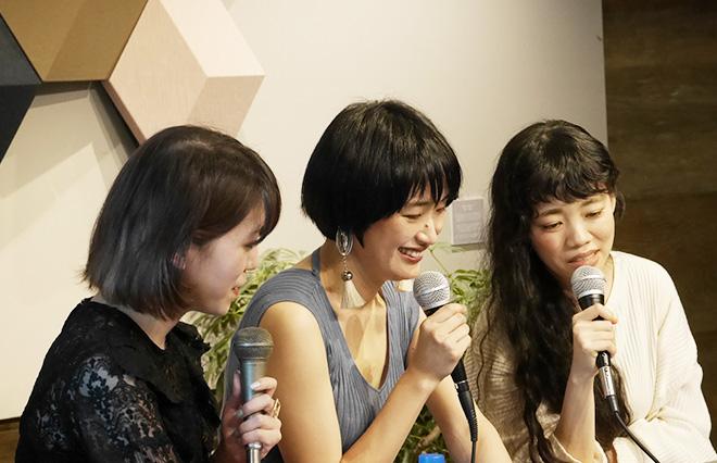 (左から)ひらりささん、長田さん、野村さん