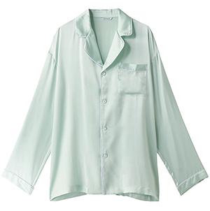 メンズシルクパジャマ長袖トップス22,000円