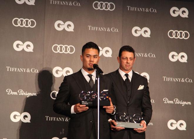 田村さん(左)とルークさん(右)