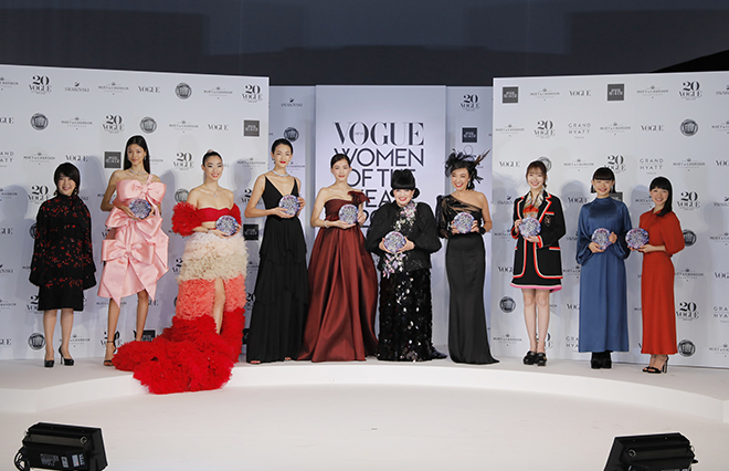 「VOGUE JAPAN WOMEN OF THE YEAR」授賞式の模様