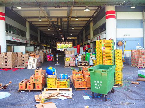 「西區公眾貨物裝卸區碼頭」の近くにあった市場の様子
