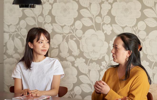 夏目さん(左)と石川さん(右)