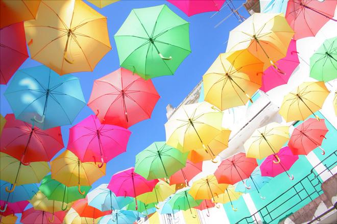 一人旅で訪ねたポルトガル・アゲダの傘祭り/著者撮影