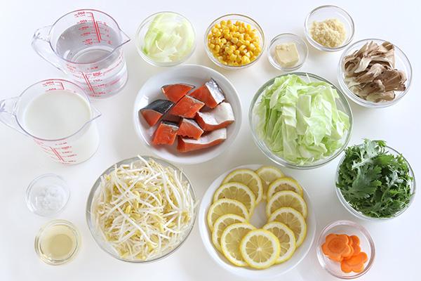 材料もやしレモン粉雪ミルク鍋 (1)