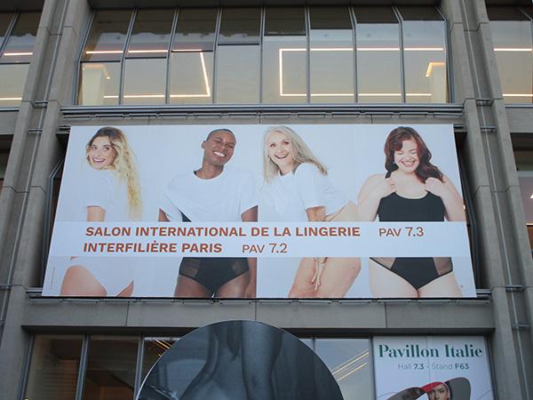 1月に開催された「パリ国際ランジェリー展」のメインビジュアルは「ボディポジティブ」を表現