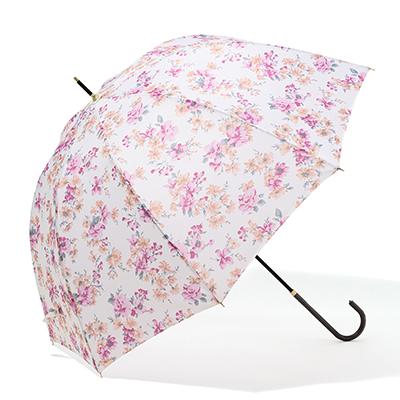 ロマンティックフラ ワー長傘